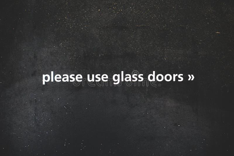 Muestra de cristal de la puerta fotografía de archivo