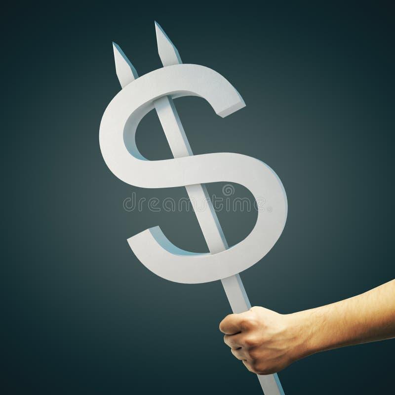 Muestra de dólar gris stock de ilustración