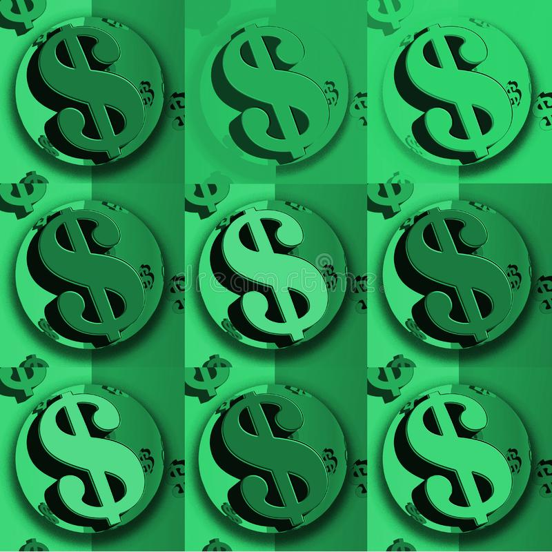 Muestra de dólar verde del dólar