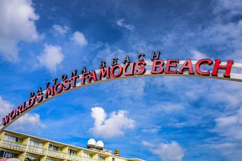 Muestra de Daytona Beach imágenes de archivo libres de regalías