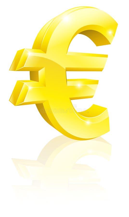 Muestra de dinero en circulación euro libre illustration