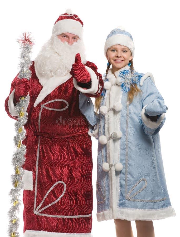 Muestra de donante virginal del thumbs-up de Papá Noel y de la nieve fotos de archivo libres de regalías