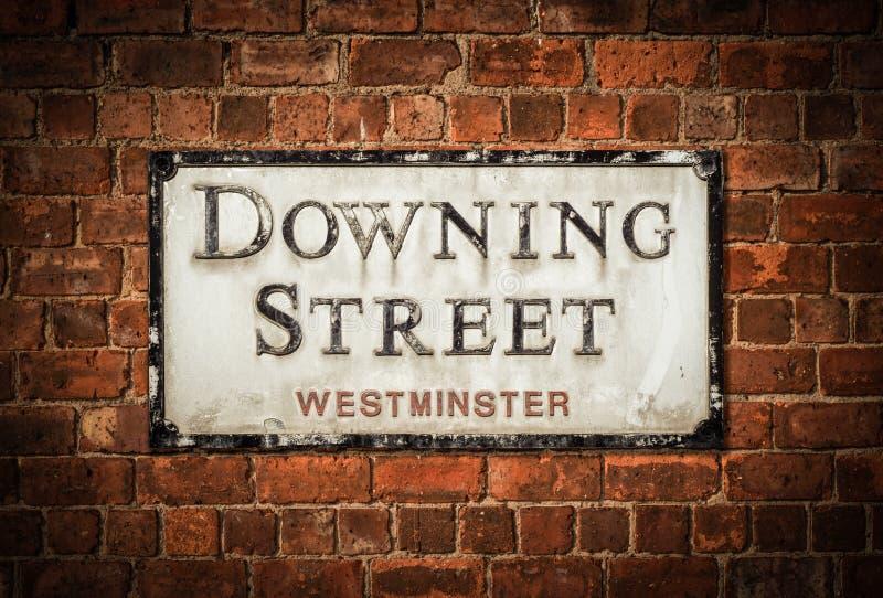 Muestra de Downing Street imagen de archivo libre de regalías
