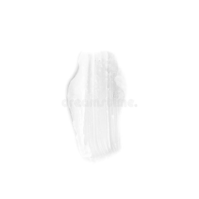 muestra de exfoliante corporal natural aislada en blanco - cosméticos orgánicos y concepto de las texturas imagenes de archivo