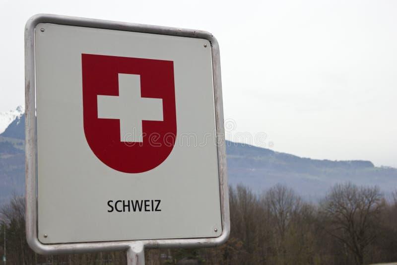 Muestra de frontera suiza foto de archivo
