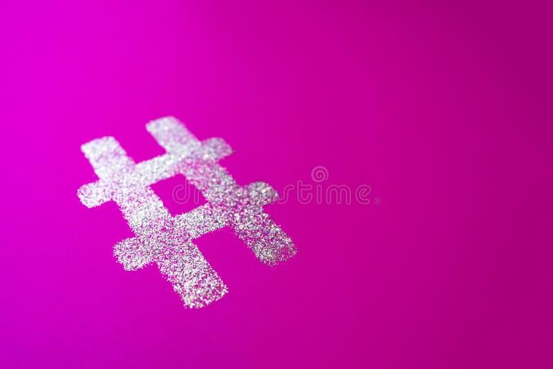 Muestra de Hashtag Símbolo de plata del hashtag libre illustration