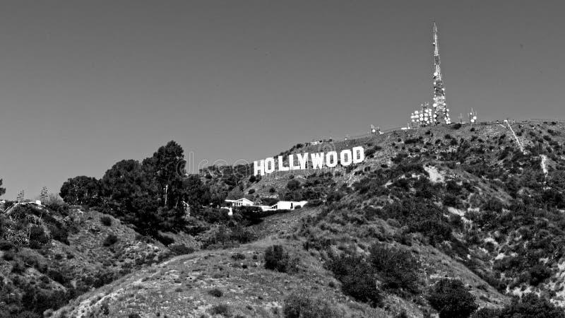 Muestra de Hollywood, California en la ladera fotos de archivo libres de regalías