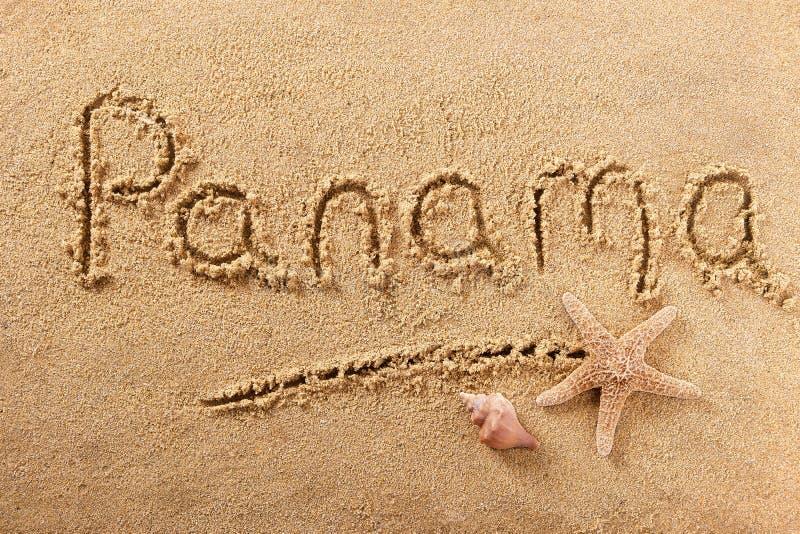 Muestra de la arena de la playa de Panamá imagen de archivo