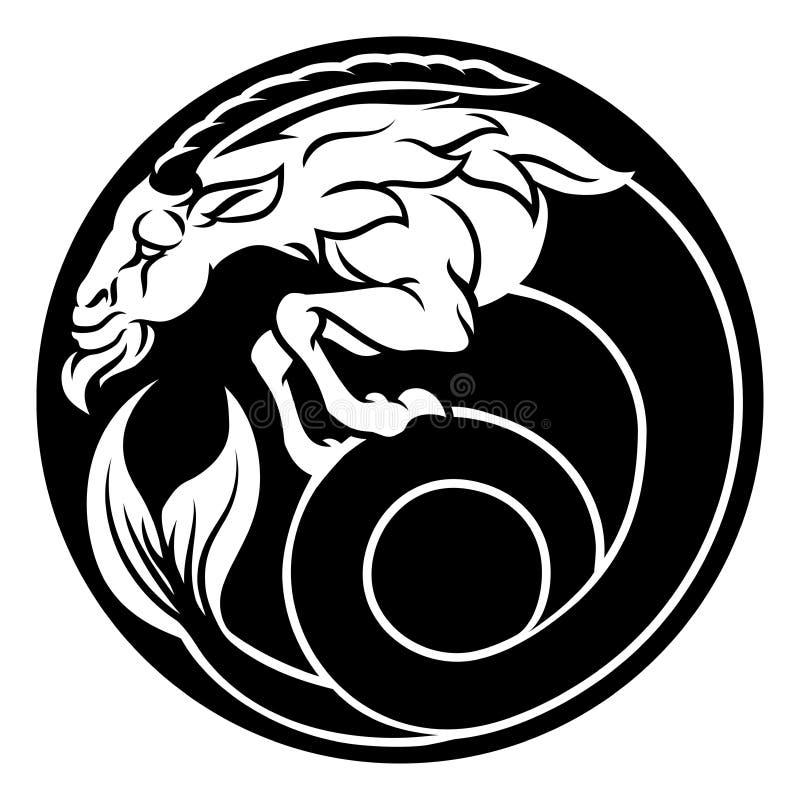 Muestra de la astrología del horóscopo del zodiaco del Capricornio libre illustration