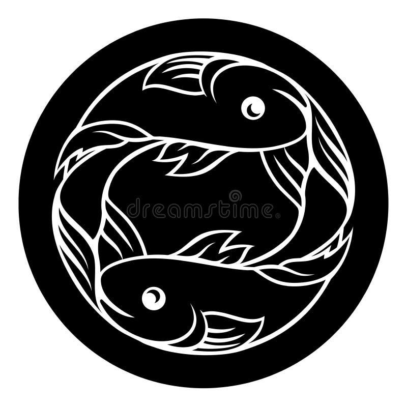Muestra de la astrología del zodiaco de los pescados de Piscis libre illustration