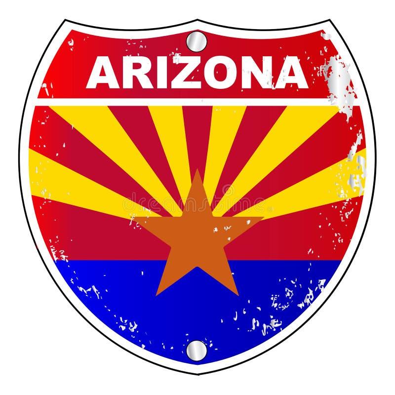 Muestra de la autopista de Arizona stock de ilustración