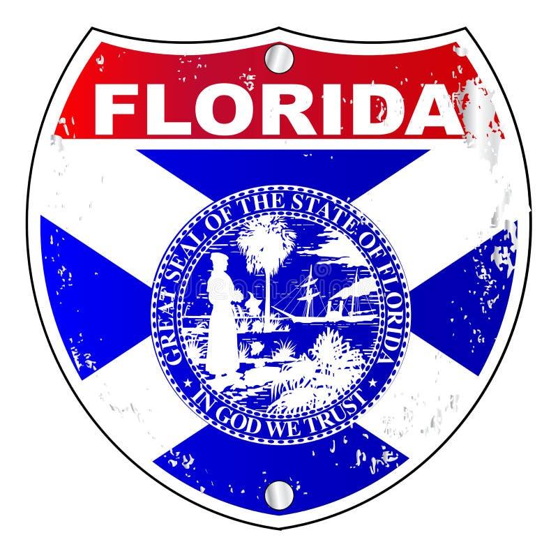 Muestra de la autopista de la Florida ilustración del vector