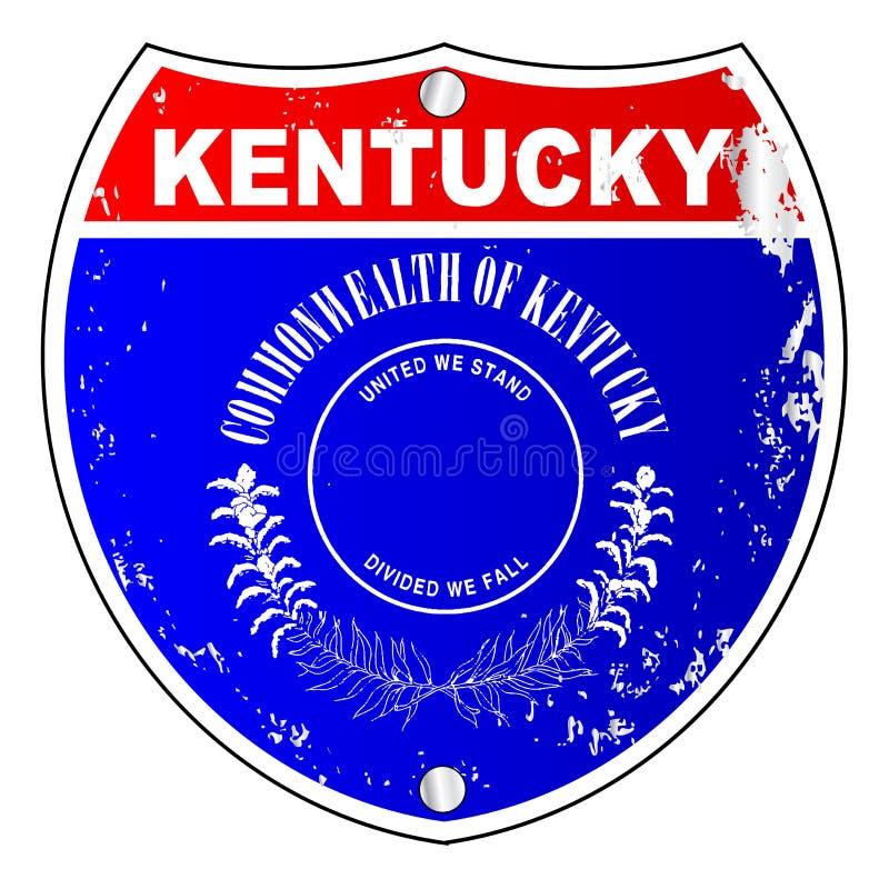 Muestra de la autopista de Kentucky stock de ilustración