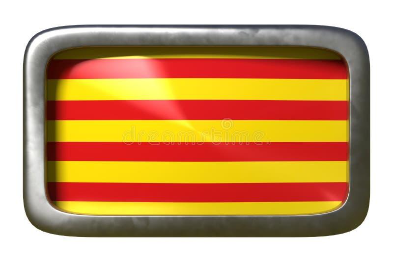 Muestra de la bandera de la comunidad de Cataluña España libre illustration