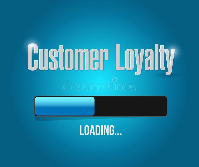 muestra de la barra de cargamento de la lealtad del cliente stock de ilustración