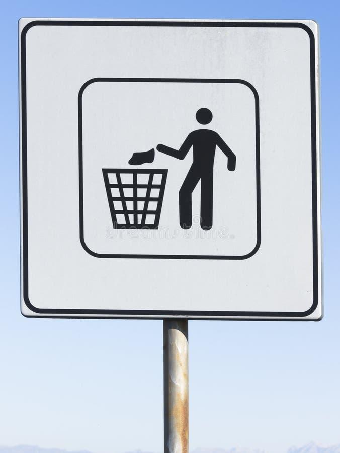 Muestra de la basura o de la basura fotos de archivo libres de regalías