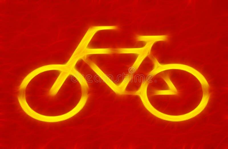 Muestra de la bicicleta fotografía de archivo