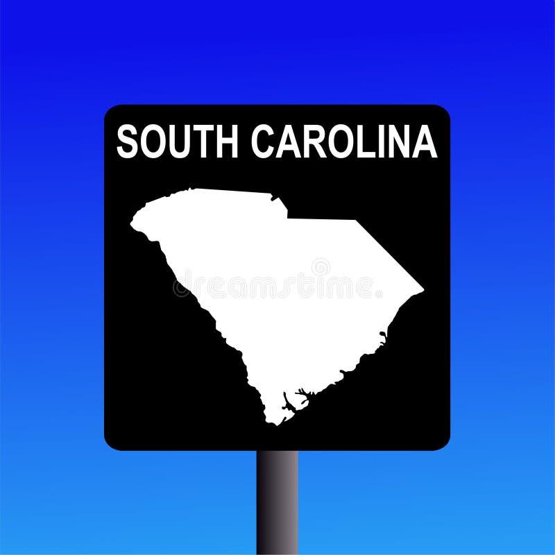 Muestra de la carretera de Carolina del Sur ilustración del vector