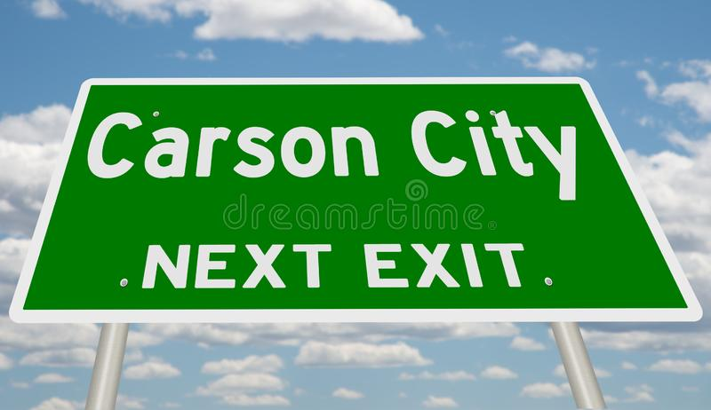Muestra de la carretera para Carson City fotos de archivo libres de regalías