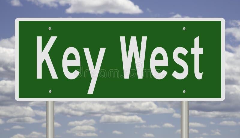 Muestra de la carretera para Key West la Florida libre illustration
