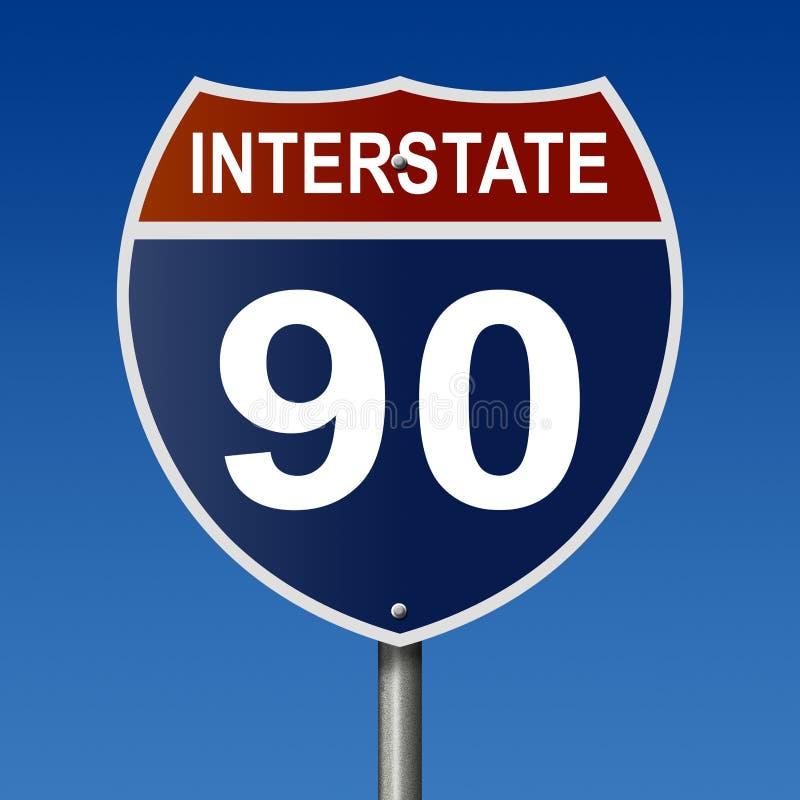 Muestra de la carretera para la autopista 90 libre illustration