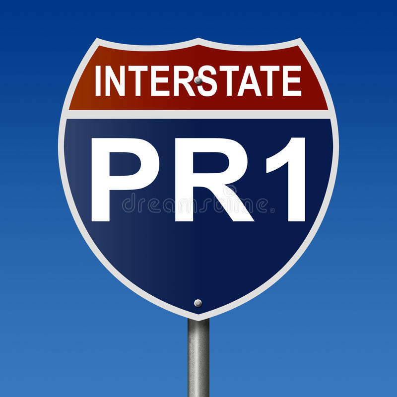 Muestra de la carretera para Puerto Rico Interstate Route PR1 libre illustration