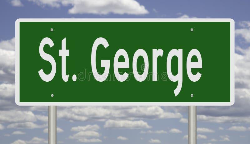 Muestra de la carretera para St George Utah ilustración del vector