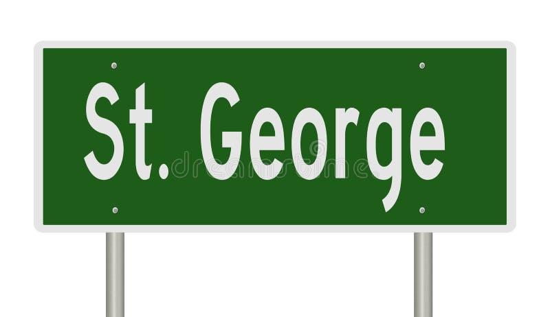 Muestra de la carretera para St George Utah stock de ilustración