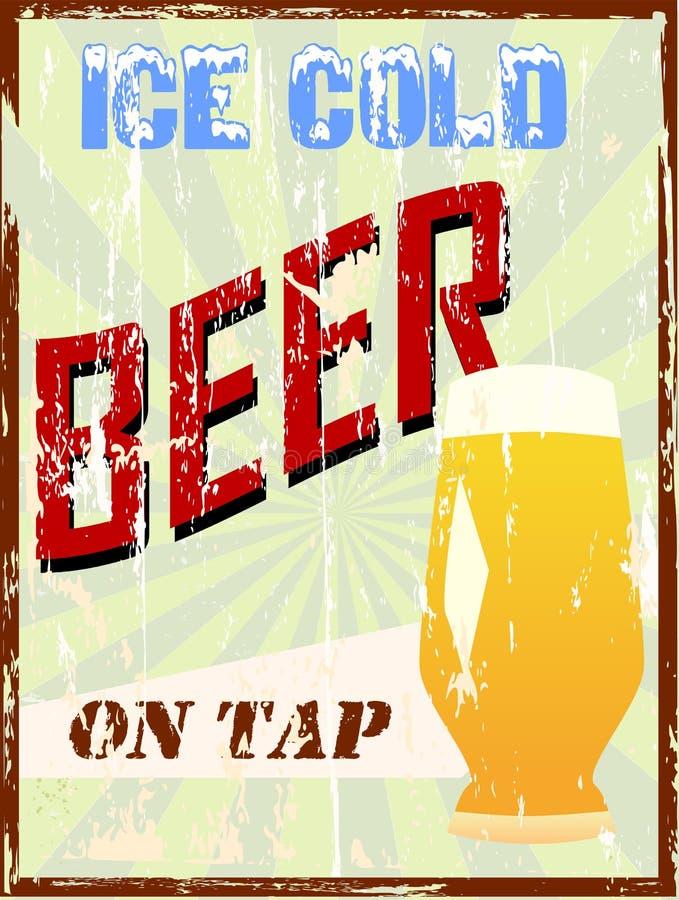 Muestra de la cerveza de la vendimia, ilustración del vector
