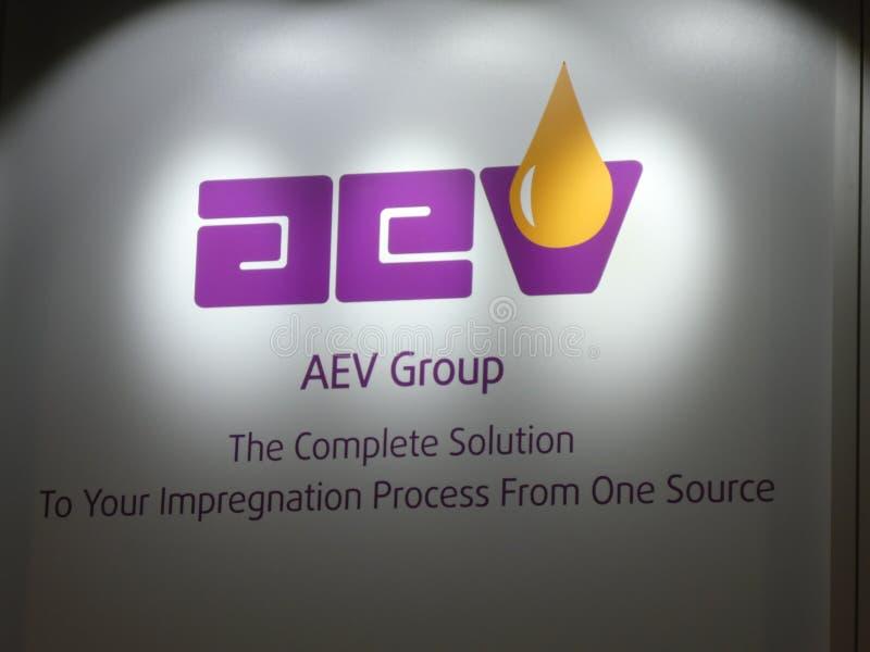 Muestra de la compañía de AEV fotos de archivo libres de regalías