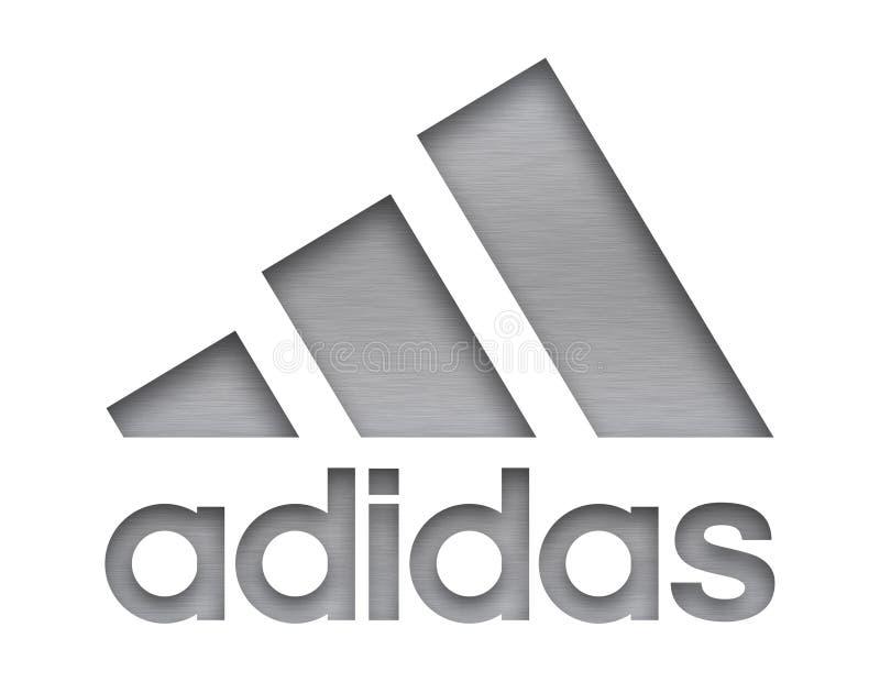 Muestra de la compañía de Adidas ilustración del vector