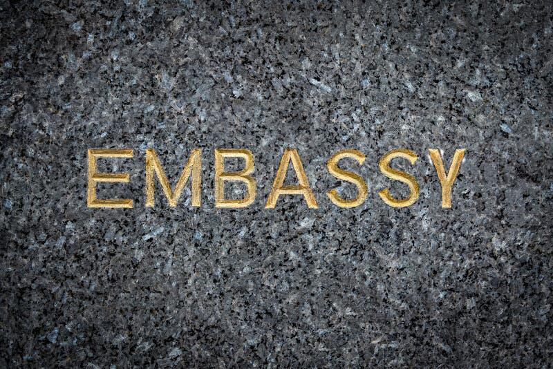 Muestra de la embajada del oro fotografía de archivo