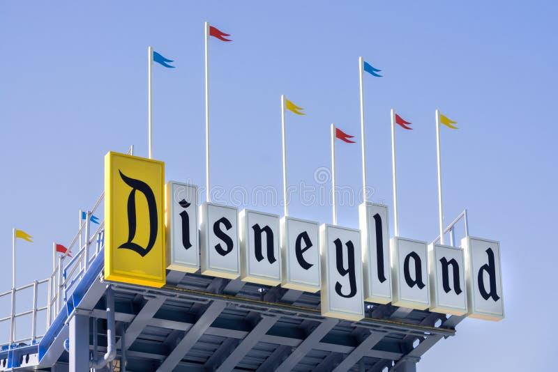 Muestra de la entrada de Disneyland foto de archivo libre de regalías