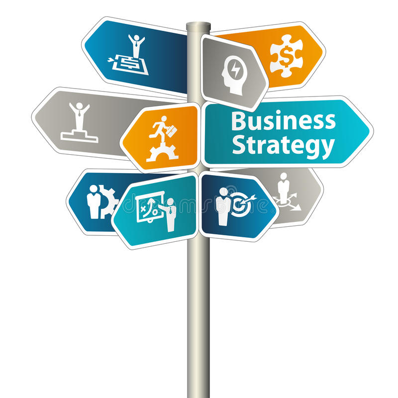 Muestra de la estrategia empresarial ilustración del vector