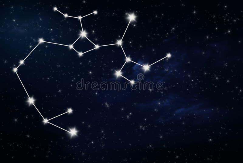 Muestra de la estrella del horóscopo del sagitario fotografía de archivo