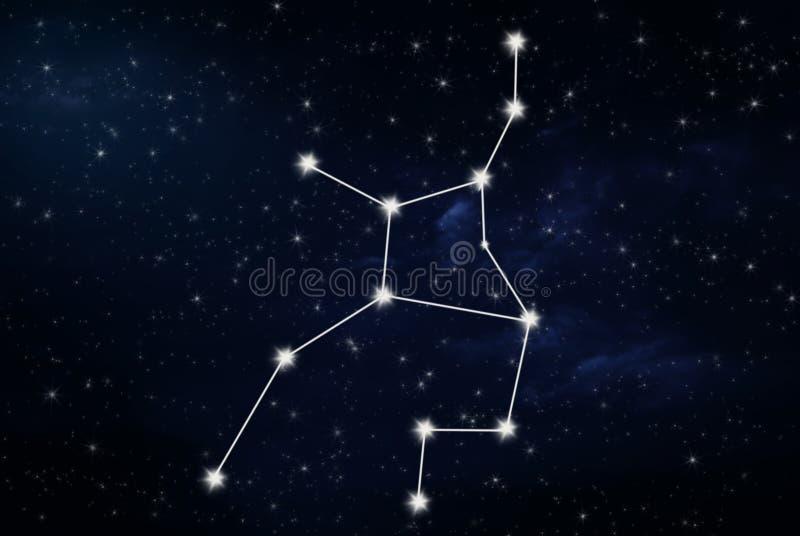 Muestra de la estrella del horóscopo del virgo fotos de archivo libres de regalías