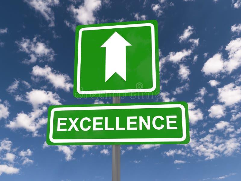 Muestra de la excelencia con la flecha ascendente imagen de archivo