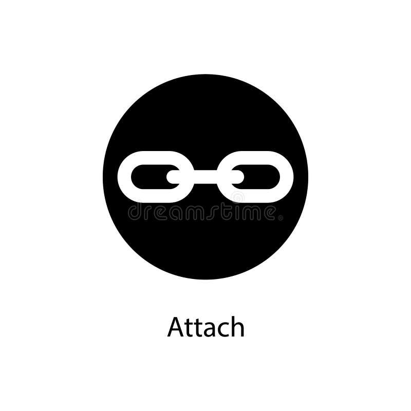 muestra de la fijación en icono redondo Elemento del icono minimalistic para los apps móviles del concepto y del web Muestras e i ilustración del vector