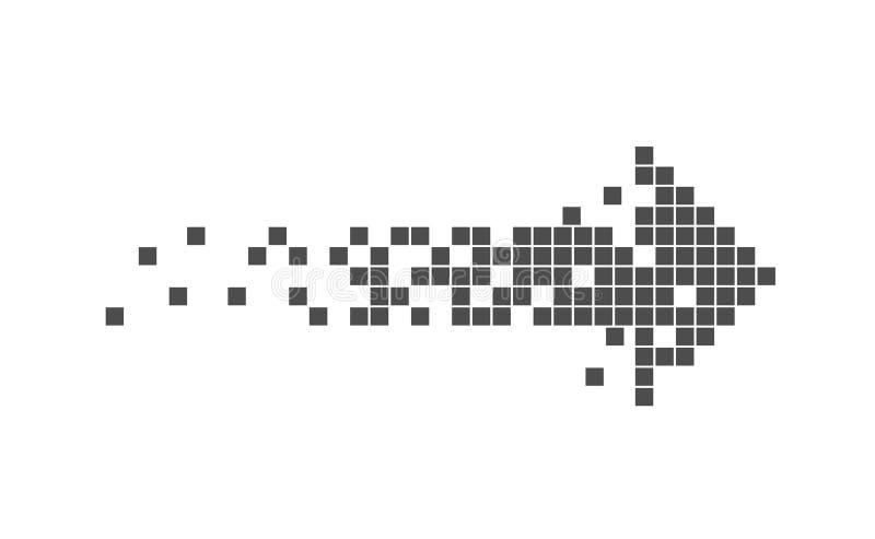 Muestra de la flecha del pixel ilustración del vector