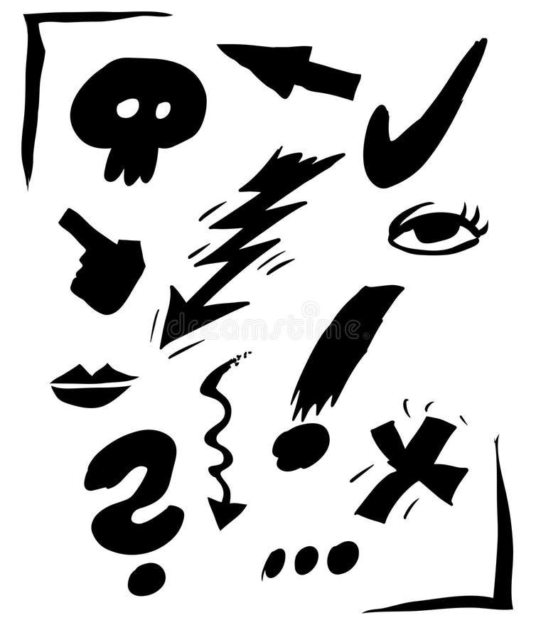 Muestra de la historieta stock de ilustración