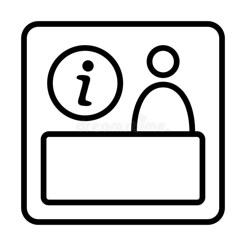 Muestra de la información Icono del puesto de informaciones stock de ilustración