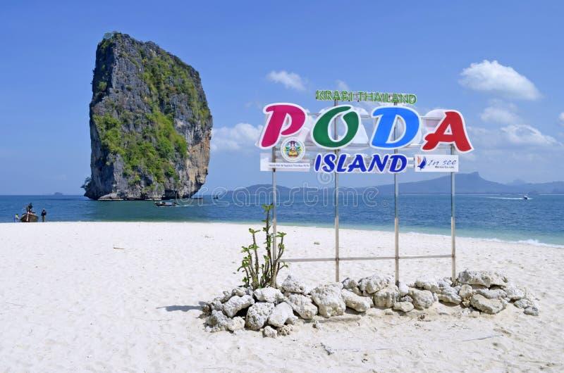 Muestra de la información de la isla de Poda foto de archivo