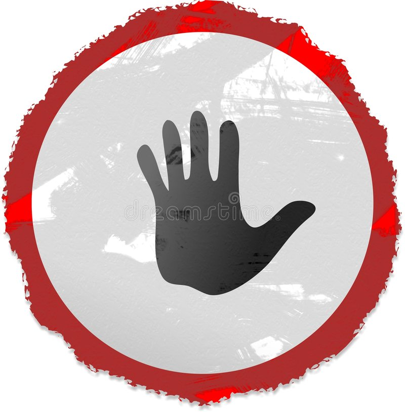 Muestra de la mano de Grunge ilustración del vector