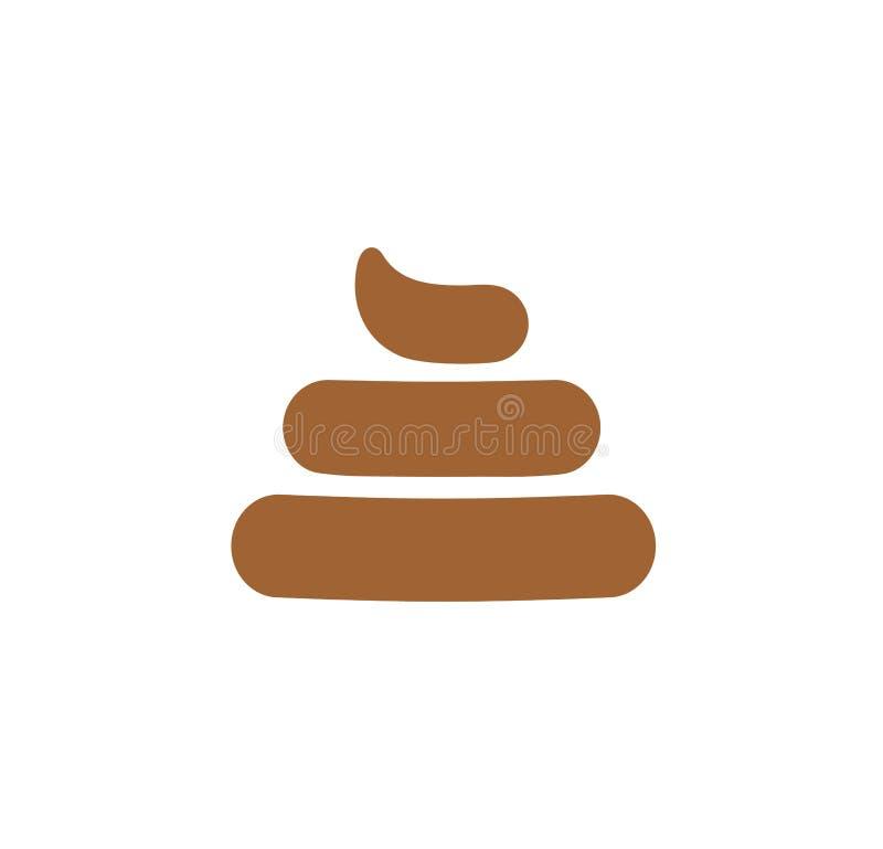 Muestra de la mierda, excremento, mún símbolo del trabajo, icono negativo de la evaluación, impulso, poo, ejemplo simple del vect libre illustration