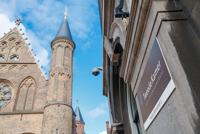 Muestra de la oficina de la cámara holandesa de representantes, La Haya, Ne fotografía de archivo libre de regalías