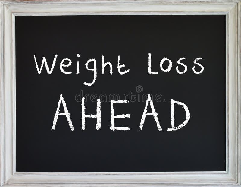 Muestra de la pérdida de peso en el tablero de tiza negro libre illustration
