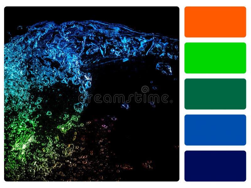 Muestra de la paleta de color imagen de archivo libre de regalías