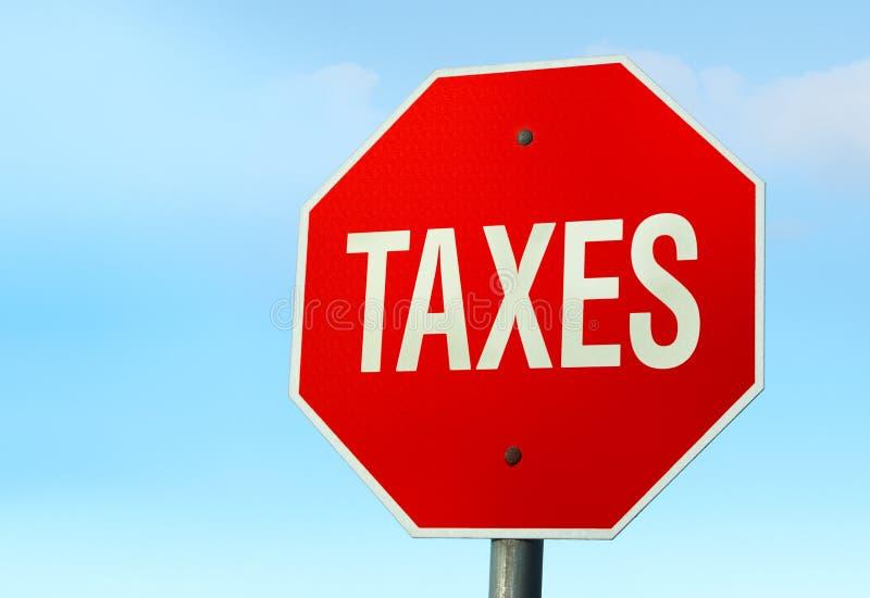 Muestra de la PARADA de los impuestos imágenes de archivo libres de regalías