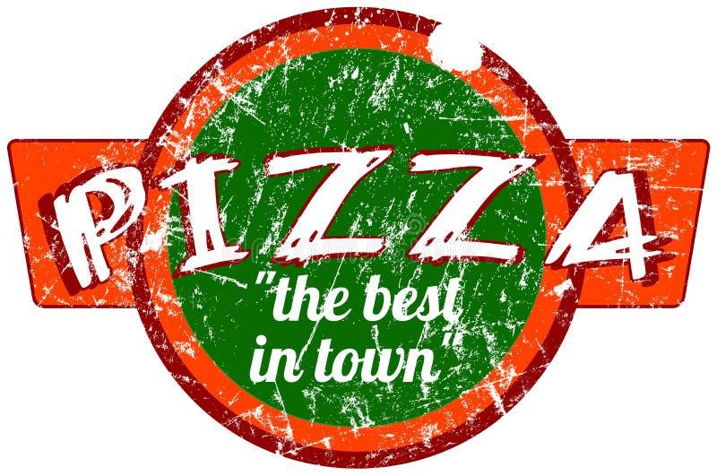 Muestra de la pizza stock de ilustración