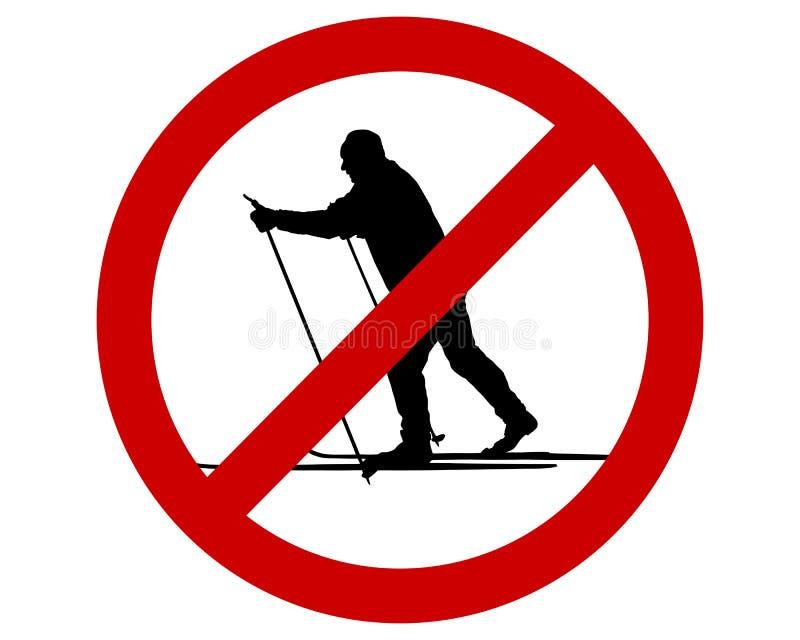 Muestra de la prohibición para el esquí de fondo libre illustration